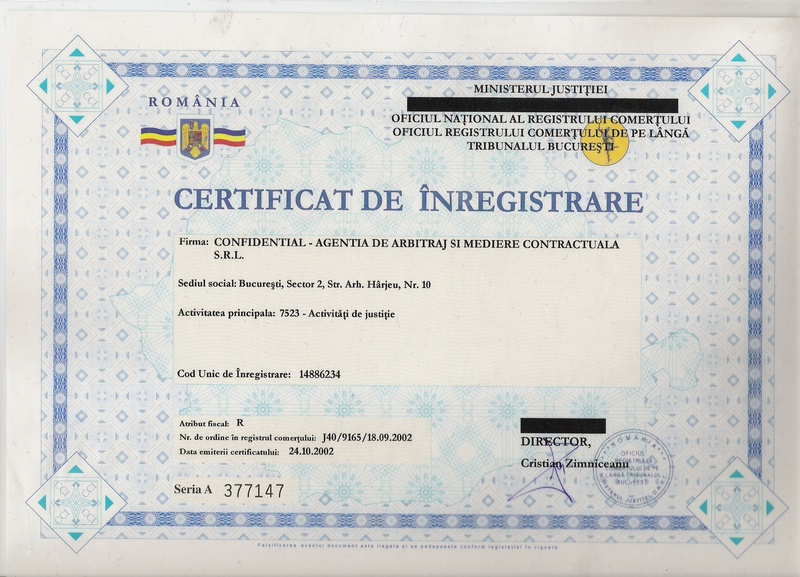 Certificat - Business License